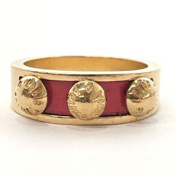 LOUIS VUITTON Louis Vuitton Ring / Ring M66421 Berggimia Ring Metal 11 Gold Red [Used] Ladies