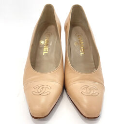 CHANEL Pumps Coco Mark Leather Pink [Used] Ladies