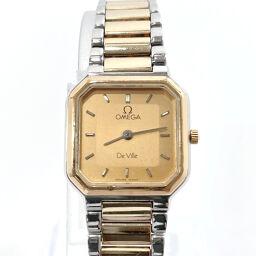 OMEGA Omega Watch Quartz Devil Stainless Steel Gold Quartz Gold Dial [Used] Ladies