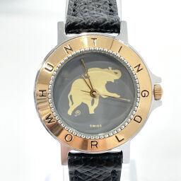 <html>    <body>   HUNTING WORLD ハンティングワールド 腕時計 HT2131M クォーツ ステンレススチール ゴールド ブラック クオーツ【中古】 レディース        </body> </html>