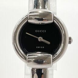 GUCCI Gucci Watch 1400L Quartz Stainless Steel Silver Blackface Quartz Black Dial [Used] Ladies