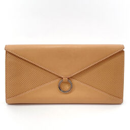 LOEWE Loewe long wallet leather beige [used] ladies