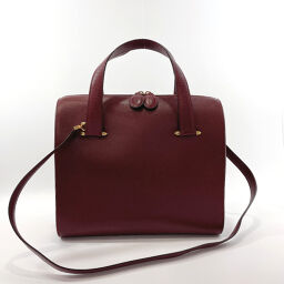 CARTIER Cartier Handbag 2way Vintage Leather Bordeaux [Used] Unisex
