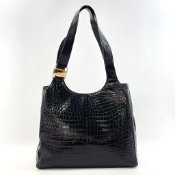 Salvatore Ferragamo Salvatore Ferragamo Tote Bag BA-21 Vala Embossed Leather Black [Used] Ladies