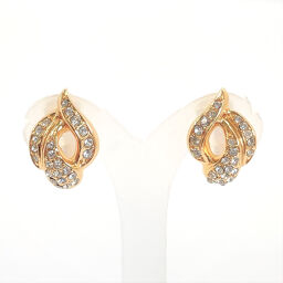 Christian Dior Christian Dior Earrings Vintage Metal / Rhinestone Gold [Used] Ladies