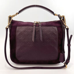 LOUIS VUITTON Shoulder Bag M40583 Oda Shoes PM Monogram Amplant / Suede Purple [Used] Ladies