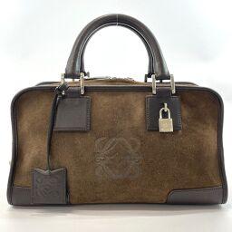 LOEWE Loewe Handbag Amazona Suede / Leather Dark Brown [Used] Ladies
