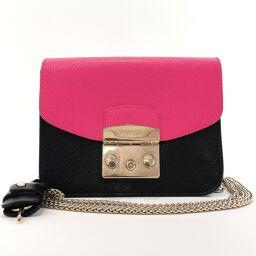 Furla Furla Shoulder Bag Leather Black Black [Used] Ladies