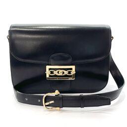 CELINE Celine Shoulder Bag F / 02 Vintage Leather Black Black [Used] Ladies