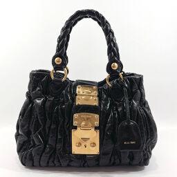 MIUMIU Miu Miu Handbag RN0473 Materasse Calf Leather Black [Used] Ladies