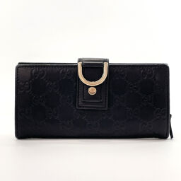GUCCI Gucci wallet 154256 Shima leather black [used] ladies