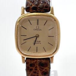 OMEGA Omega Watch Devil Quartz Vintage Stainless Steel Gold Quartz Gold Dial [Used] Ladies