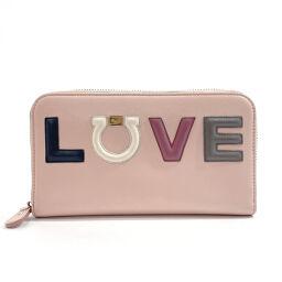 Salvatore Ferragamo Salvatore Ferragamo Long Wallet 22-C983 Gancio Leather Pink [Used] Ladies