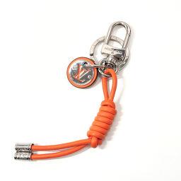 LOUIS VUITTON Louis Vuitton Keychain M62731 Keychain Leather Orange Orange [Used] Unisex