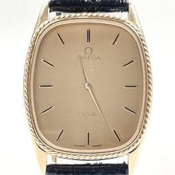 OMEGA Omega Watch 1365 Devil Quartz Vintage Stainless Steel / Leather Gold Gold Quartz Gold Dial [Used] Ladies