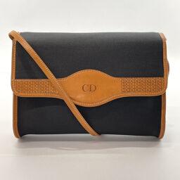 Christian Dior Shoulder Bag Vintage Nylon Black Black [Used] Ladies