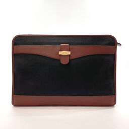 Dunhill Dunhill Clutch Bag Leather / PVC Black Black [Used] Men's