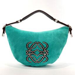 LOEWE Loewe Shoulder Bag Suede / Leather Turquoise Blue Turquoise Blue [Used] Ladies
