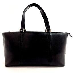 BURBERRY Handbag Leather Black [Used] Ladies