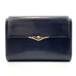 CARTIER Cartier Clutch Bag Vintage Sapphire Leather Navy [Used] Ladies