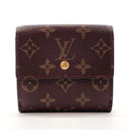 LOUIS VUITTON Louis Vuitton Tri-Fold Wallet M61652 Porto Monevier Cult Clady Monogram Canvas Brown [Used] Unisex