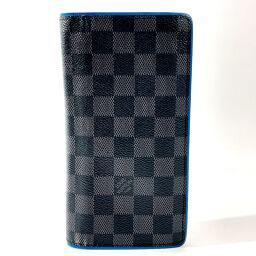 LOUIS VUITTON Louis Vuitton Long Wallet N64430 Portofeuil Braza Damier Canvas Black [Used] Men's