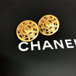 CHANEL シャネル ココマーク 96A イヤリング メタル ゴールド【中古】 レディース