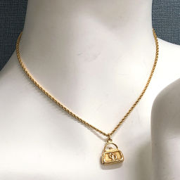 Christian Dior Christian Dior Necklace Metal Gold [Used] Ladies
