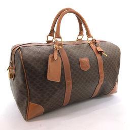 CELINE Celine Vintage Macadam MC97 / 2 Boston Bag PVC Brown [Used] Unisex
