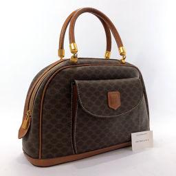 CELINE Celine Vintage Macadam MC96 Handbag Leather / PVC Brown [Used] Ladies