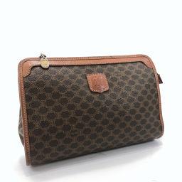 CELINE Celine Vintage Macadam M07 Second Bag PVC / Leather Brown [Used] Unisex