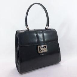 CELINE Celine Vintage Carriage Fittings F-97 / 1 Handbag Leather Black [Used] Ladies