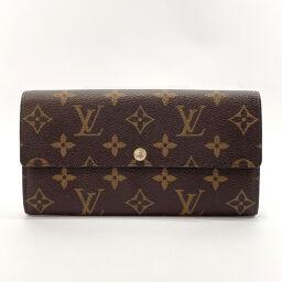 LOUIS VUITTON Louis Vuitton Long Wallet M60104 Portofeuil Sarah Leopard Monogram Canvas Brown [Used] Ladies