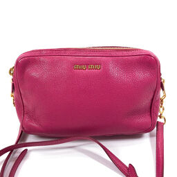 MIUMIU Miu Miu Shoulder Bag RT0539 Leather Pink [Used] Ladies
