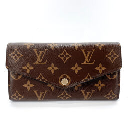 LOUIS VUITTON Louis Vuitton Long Wallet M60531 Portofeuil Sara Monogram Canvas Brown [Used] Ladies