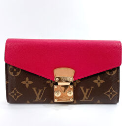 LOUIS VUITTON Louis Vuitton Long Wallet M56241 Portofeuil Palas Monogram Canvas Brown [Used] Ladies
