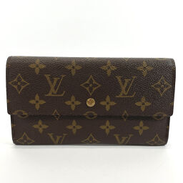 LOUIS VUITTON Louis Vuitton Purse M61215 Porto Tresor International Monogram Canvas Brown [Used] Unisex