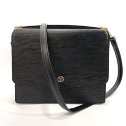 LOUIS VUITTON Louis Vuitton Shoulder Bag M52362 Grunel Epi Leather Black Noir [Used] Ladies
