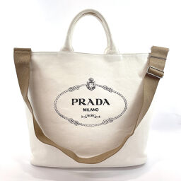 <html>    <body>   PRADA プラダ トートバッグ 1BG161 カナパ ショッピング 2way キャンバス ホワイト【中古】 レディース        </body> </html>