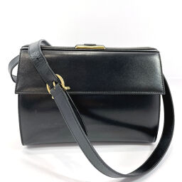 Salvatore Ferragamo Salvatore Ferragamo Shoulder Bag AQ215299 Ribbon Vintage Leather Black [Used] Ladies