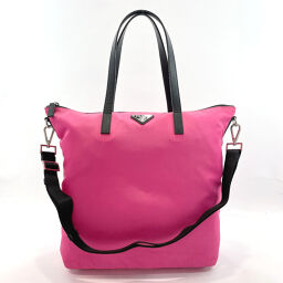 PRADA Prada Tote Bag 2way Nylon Pink [Used] Ladies