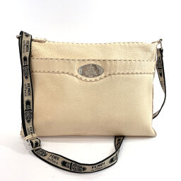 FENDI FENDI Shoulder Bag 8BT093 Celeria Leather Cream [Used] Ladies