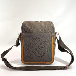 LOUIS VUITTON Louis Vuitton Shoulder Bag M93040 Citadan Damier Jean Canvas Brown [Used] Men's