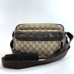 GUCCI Gucci Shoulder Bag 114531 GG Supreme Canvas Brown [Used] Unisex