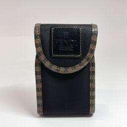 FENDI FENDI Other accessories 162759 ・ 0959 Cigarette case Pecan Nylon Black [Used] Unisex