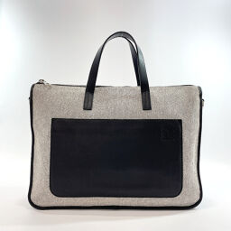 LOEWE Loewe Business Bag Canvas / Leather Gray [Used] Men's
