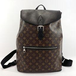 LOUIS VUITTON Louis Vuitton Backpack Daypack M40637 Parc Monogram Macassar Brown Black [Used] Men's