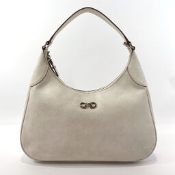 Salvatore Ferragamo Salvatore Ferragamo Shoulder Bag 21 B640 Gancio Leather White Silver Hardware [Used] Ladies