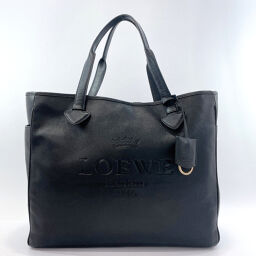 LOEWE Loewe Tote Bag Leather Black [Used] Unisex