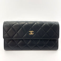 CHANEL Chanel Purse Matrasse Lambskin Black [Used] Ladies